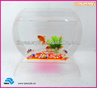 2013 New Design Mini Clear Round Acrylic Aquarium