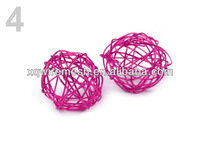 christmas wire ball with silver glitter /Xmas decoration iron wire ball