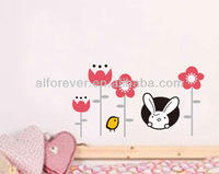 New arrival Pink flower Wall Stickers home deco for home decor