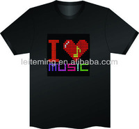 100% cotton music flashing T-Shirt Graphic Equalizer