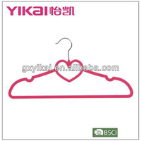 Beautiful design with heart shaped plastic hanger for shirt