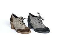 Made in Italy suede Oxford ladies shoes