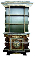 High Quality Italian Antique Panel Plywood Wooden Bookcase