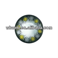 Yearly disposable smart yellow decorative pattern 004 colored contact lens/doll eye glamour crazy contact lenses