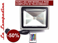 OUTDOOR LED FLOODLIGHT RGB 30W + REMOTE CONTROLLER / FARO LED RGB 30W CON TELECOMANDO