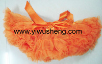 Children apparel hot sale Yellow Halloween Pettiskirts Girl's Dress
