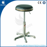 BT-DS006 Height adjustable rolling Stainless steel Stool
