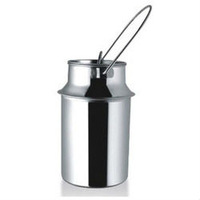 STEEL MILK CAN STORAGE POT JUG FOR DAIRY FARM 1 TO 20 LITRE AISI 304 GRADE