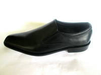 Leather sole dress shoes