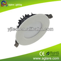 factory price high lumen IP44 recessed 5w round led downlights with CE