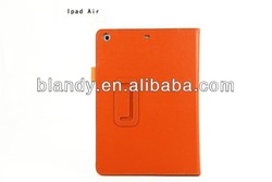 High quality Lychee PU Leathr Case With Stand for iPad air 5