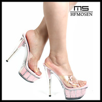 S8021 high heels fashion transparant sandals noble banquent shoes super high-heeled sexy nighclub pumps