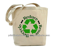 100% cotton calico shopper bag with reinforced handles