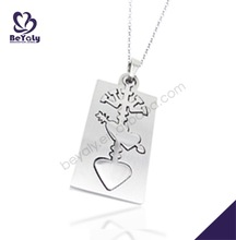 Cupid's arrow thread heart pattern stainless steel pendant angel