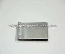 Silver metal flat money clip
