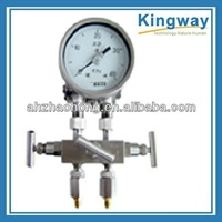 Lower connection Dry dual diaphragm high static pressure differential pressure gauge