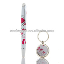 custom made metal keychains wholesale Hot selling ball pen