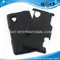 High Quality Soft Silicone 2 in 1 Cover For LG E975 Case