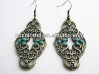 YE10289 ethnic exotic tribal earrings import gold plated jewelry
