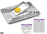 stainless steel square trays