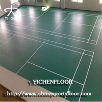 Badminton Court Pvc Foam Backed Vinyl Flooring