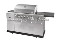 Oven inside six main burner big Gas kebab grill outdoor cooking (PG-40613S0L)