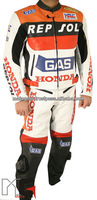 HRC Honda Repsol Motorcycle Racing Suit Leather Suit 2 Pc