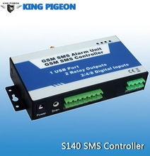 GSM home automation controller for LED signs remote relay contact controller gsm access controller S140