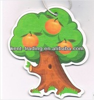 aroma diffuser apple tree paper car air freshener make hanging