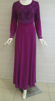 Jubah lycra with lace