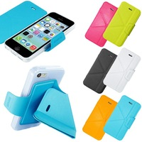 pu leather smart folding stand magnetic smart cover case for iphone 5 / 5s