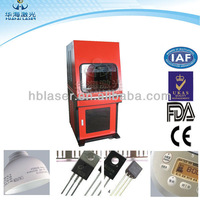 High quality With protection cover China laser engraving 20w knife marking machine