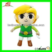 "LE h2052 authentic global holdings legend of zelda 7"" link plush doll nitendo"