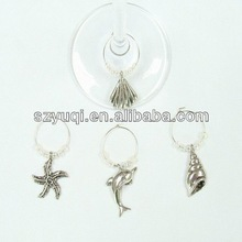 delicate fashion western color bead wine charms pendent