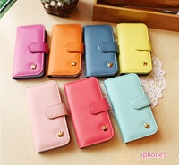 crown smart pouch wallet case for iphone 5 5g 5th