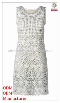 Free Crochet Dress Patterns For Ladies : Top Fashion Design Ladies Sleeveless Crochet Dress ...