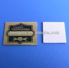 customize creative communities metal tags plate with adhesive