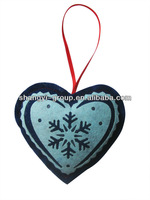 (XD-09)2014 New Fashion Indoor Felt Snowflake Christmas Heart Decoration/Ornament