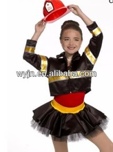 2014- -teen firefighters dance jazz costume suit- dashing girl firefighters dance wear -child&adult--dashing kid dancedwear