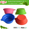 2014 Colorful Portable Novelty Folding Silicone Dog Bowl