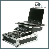 multilenel cases-Mixer case for Vestax VCM600 DJ MIDI Controller with slide out keyboard tray