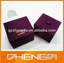 Hot!!! Factory Made Fabric Covering Purple Essential Oil Bottle Packaging Customized Products Gift Box(ZDC14-012)