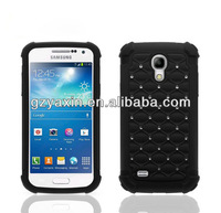3-in 1 process cover pc+metal case for samsung galaxy s4 mini i9190