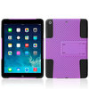 For ipad cover,2in1 silicone PC Mesh design for ipad air cover case,Combo case cover with kickstand for IPAD Air/IPAD 5