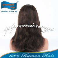 100% human hair full lace wig highlight color natural hairline human hair wigs for black women