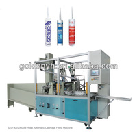 double head automatic tube filling and capping machine used for silicone sealant and grease