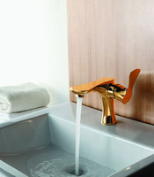 Solid Gold Plated Bathroom Brass Faucet