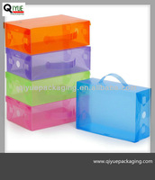 pvc shoe box with handle