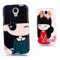 wholesale oil painting lovely girl case for samsung galaxy s4