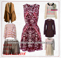 Top hot sell factorty directly price ladies' top brands winter clothing